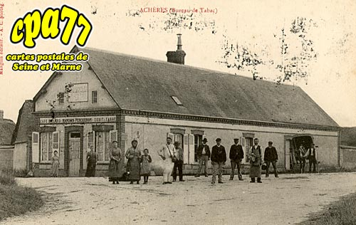 Carte postale ancienne de ach res la for t 77 bureau - Bureau de change seine et marne ...