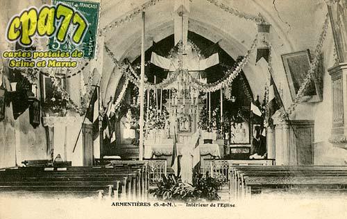 Armentières En Brie - Intérieur de l'Eglise