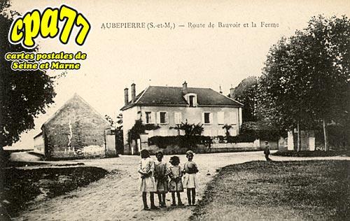 Aubepierre Ozouer Le Repos - Route de Bauvoir et la Ferme