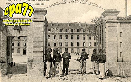 Avon - Quartier Lariboisière - Caserne du Train des Equipages