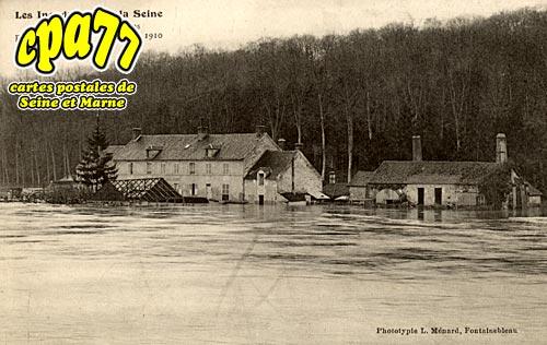 Avon - Le Restaurant de Valvins pendant la crue - 25 Janvier 1910