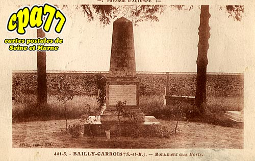 Bailly Carrois - Monument aux Morts