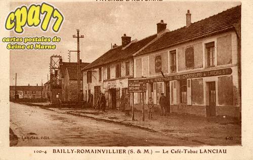 Bailly Romainvilliers - Paysage d'Automne - Le Café-Tabac Lanciau