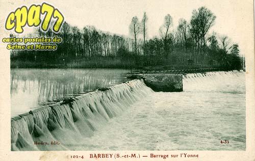Barbey - Barrage sur l'Yonne