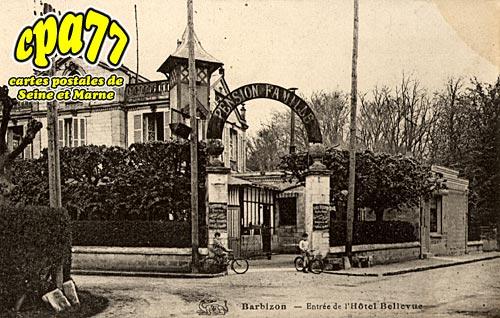 Barbizon - Entrée de l'Hôtel Bellevue