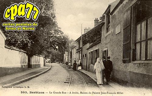 Barbizon - La Grande-Rue - A droite, Maison du Peintre Jean-François Millet