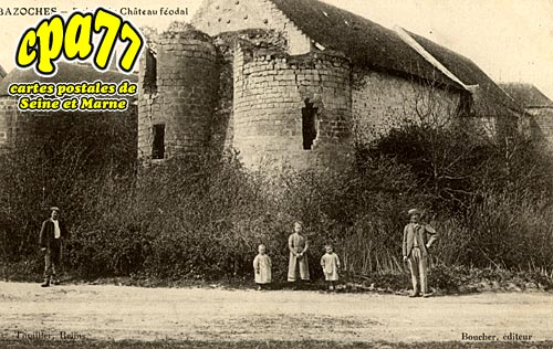 Bazoches Lès Bray - Ruines du Château féodal ( vue Nord-Est )