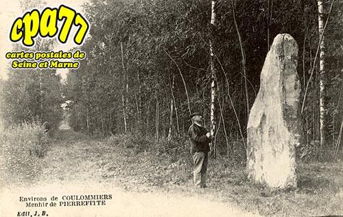 Beautheil - Menhir de Pierrefitte