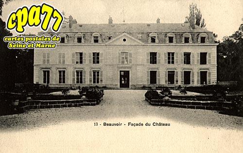 Beauvoir - Façade du Château