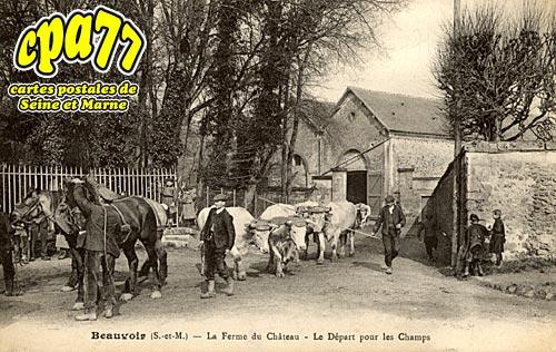 Beauvoir - La Ferme du Château - Le Départ pour les Champs