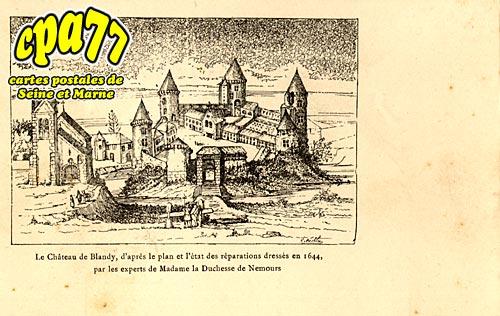 Blandy Les Tours - Le Château de Blandy, d'après le plan et l'état des réparations dressés en 1644, par les experts de madame la Duchesse de Nemours