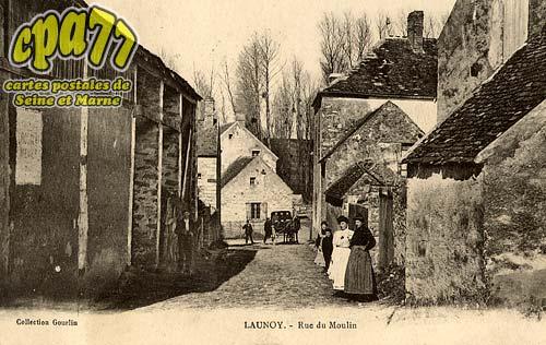 carte postale ancienne de blennes 77 launoy rue du moulin. Black Bedroom Furniture Sets. Home Design Ideas