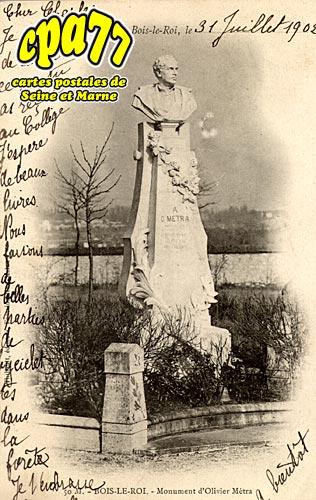 Bois Le Roi - Monument d'Olivier Métra