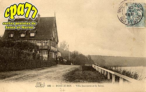 Bois Le Roi - Villa Jeannette et la Seine