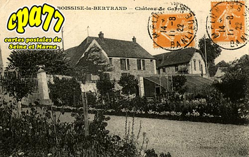 Boissise La Bertrand - Château de Gabriac