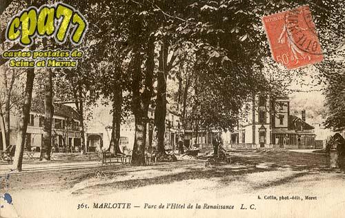 Bourron Marlotte - 365. - Marlotte - Parc de l'Hôtel de la Renaissance