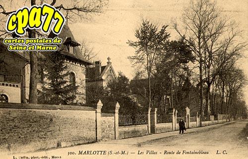 Bourron Marlotte - Les Villas - Route de Fontainebleau