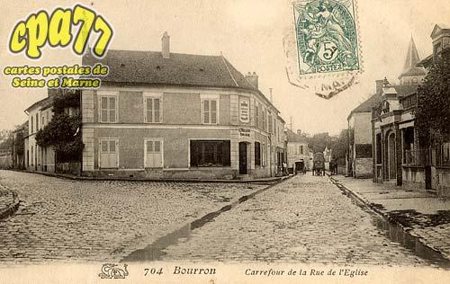 Bourron Marlotte - Carrefour de la Rue de l'Eglise