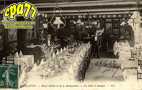 Bourron Marlotte - Hôtel Mallet et de la Renaissance - La salle à manger