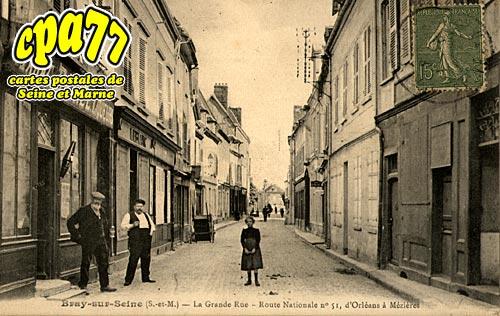 Bray Sur Seine - La Grande Rue - Route Nationale N° 51, d'Orléans à Mézières