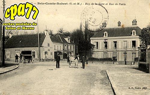 Brie Comte Robert - Rue de La Gare et Rue de Paris