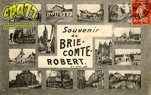 carte postale ancienne de brie comte robert 77. Black Bedroom Furniture Sets. Home Design Ideas