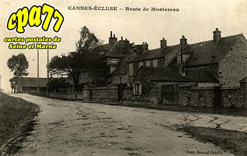 Cannes écluse - Route de Montereau