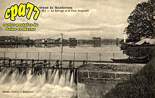 Cannes écluse - Le Barrage et le Pont Suspendu