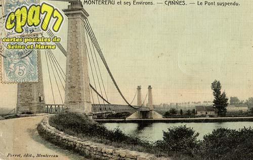 Cannes écluse - Montereau et ses Environs - Cannes - Le Pont suspendu