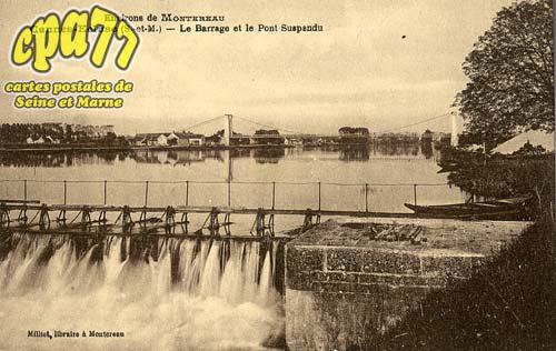 Cannes écluse - Environs de Montereau - Le Barrage et le Pont Suspendu