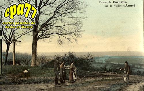 Carnetin - Plateau de Carnetin sur la Vallée d'Annet