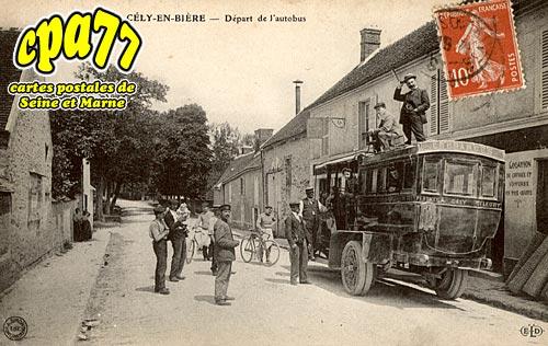 Cély En Bière - Départ de l'autobus