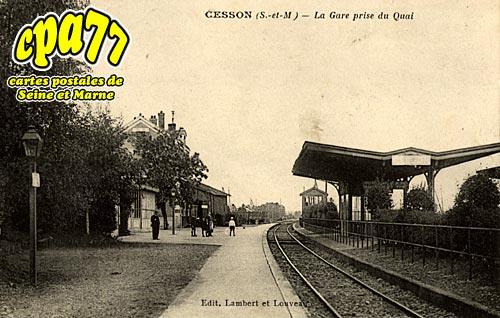Cesson - La Gare prise du Quai