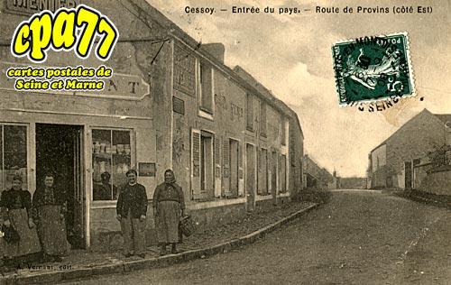 Cessoy En Montois - Entrée du pays - Route de Provins (côté Est)
