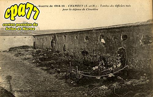 Chambry - Tombes des Officiers tués pour la défense du Cimetière