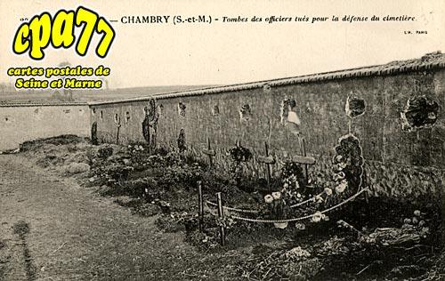 Chambry - Guerre de 1914 - Tombes des officiers tués pour la défense du cimetière