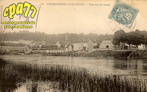 Champagne Sur Seine - Vue sur la Seine