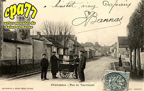 carte postale ancienne de champeaux 77 rue du tourniquet. Black Bedroom Furniture Sets. Home Design Ideas