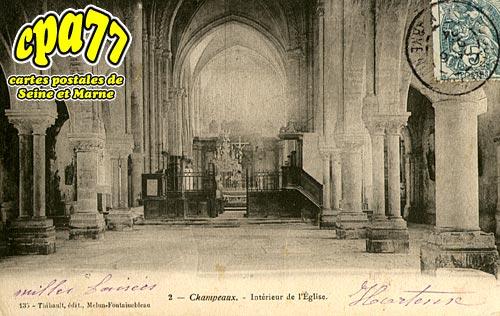 Champeaux - Intérieur de l'Eglise