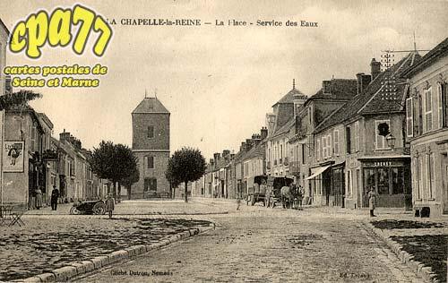 La Chapelle La Reine - La Place - Service des Eaux
