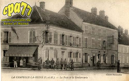 La Chapelle La Reine - La Poste et la Gendarmerie
