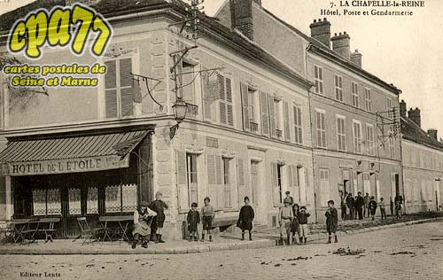 carte postale ancienne de la chapelle la reine 77 h tel poste et gendarmerie. Black Bedroom Furniture Sets. Home Design Ideas