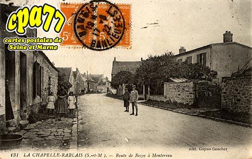 La Chapelle Rablais - Route de Rozoy à Montereau