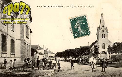 La Chapelle Rablais - La Mairie et l'Eglise
