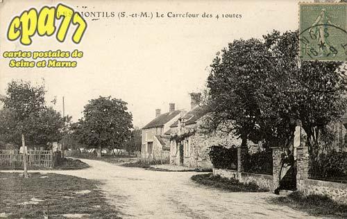 La Chapelle Rablais - Les Montils (S.-et-M.) - Le Carrefour des 4 routes