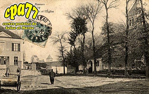 Châtenoy - L'Ecole,le Château-Fort et l'Eglise