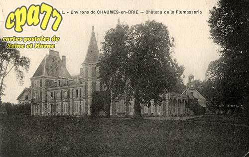 Chaumes En Brie - Environs de Chaumes-en-Brie - Château de la Plumasserie