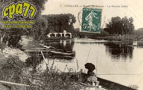 Chelles - Bord de Marne - Le Moulin brûlé