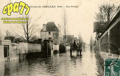 Chelles - Inondations de Chelles 1910 - Rue Pérotin