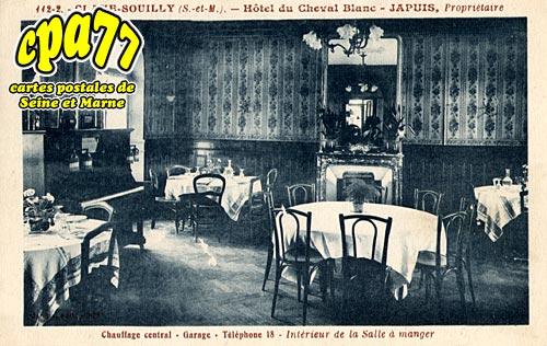 carte postale ancienne de claye souilly 77 h 244 tel du cheval blanc int 233 rieur de la salle 224